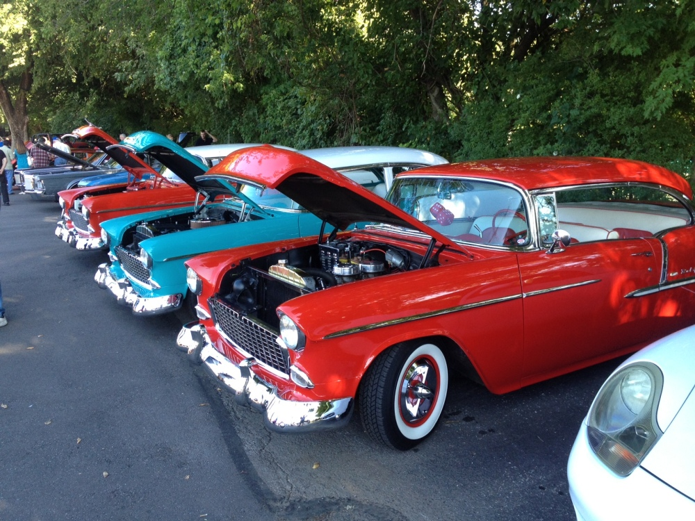 Three '55 Chevrolets