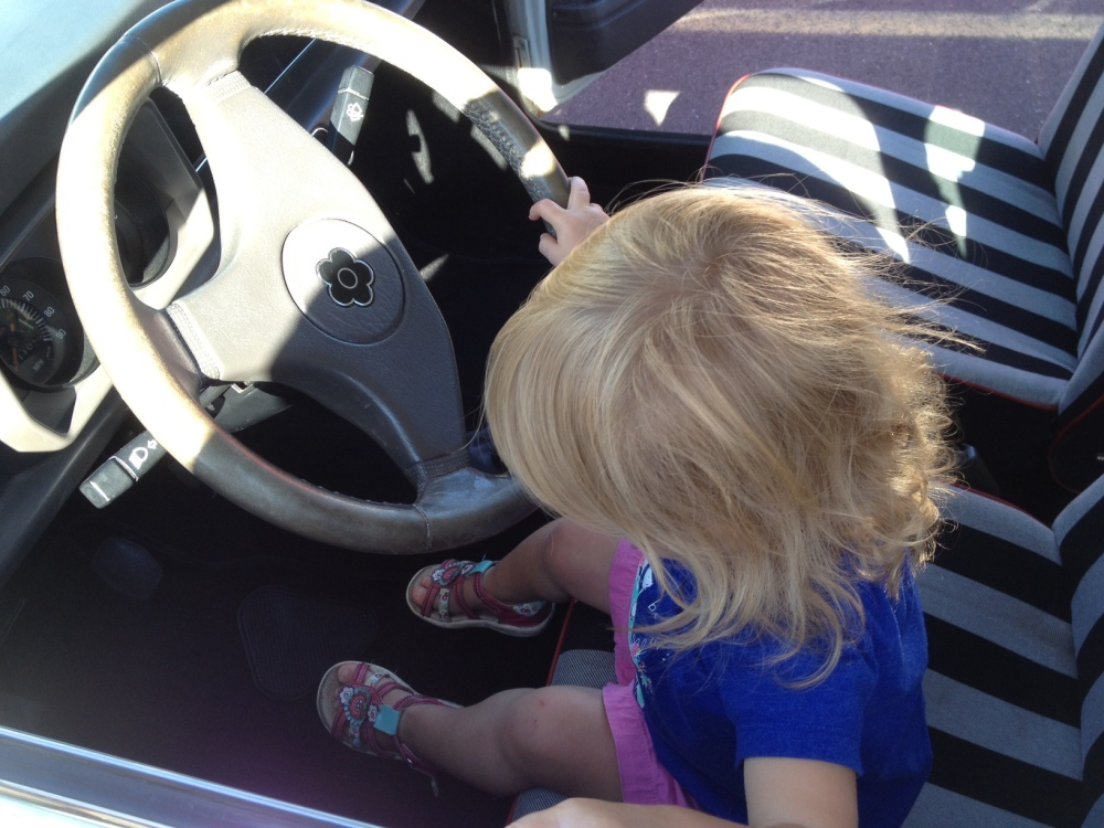 Toddler in the driver's seat