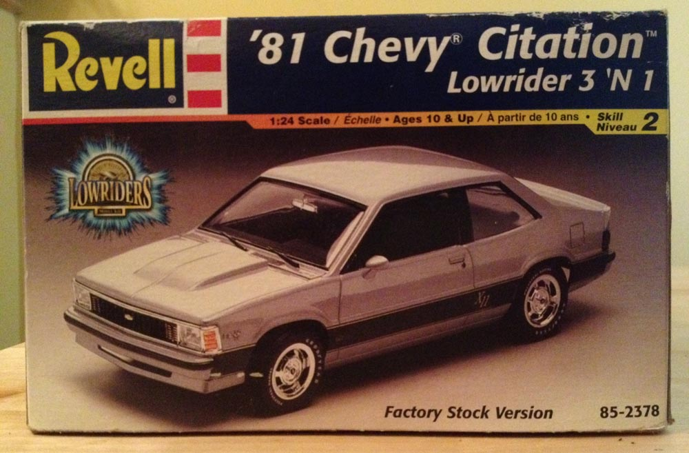 Chevrolet Citation model kit